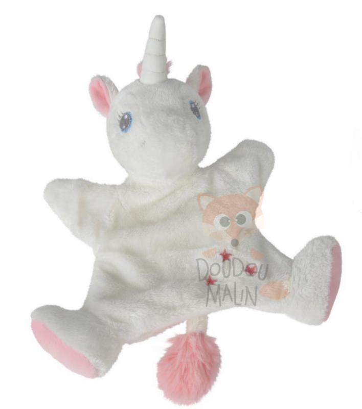 mon ami magique marionnette licorne blanc rose étoile 2d9428452233
