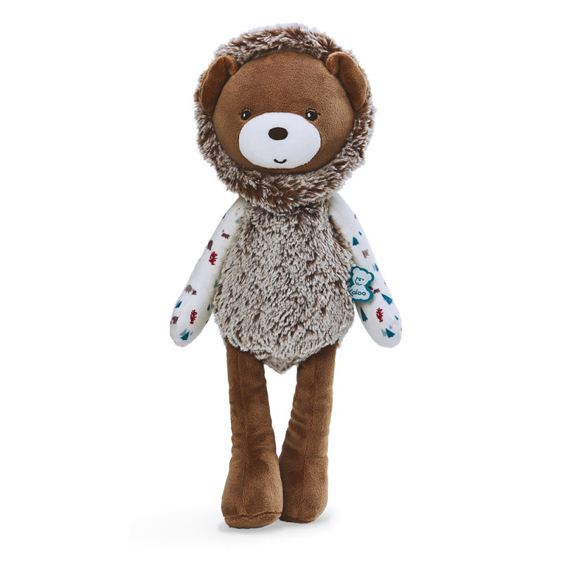 filoo gaston lours peluche 35 cm marron blanc