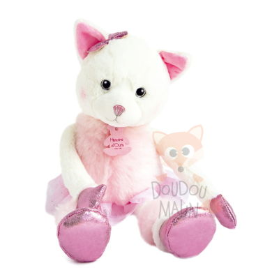 twist misty chat peluche rose - 35 cm