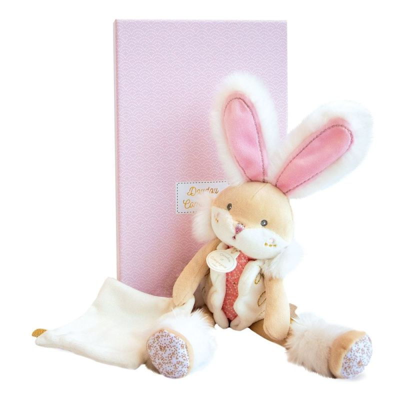 - lapin sucre rose peluche 30 cm