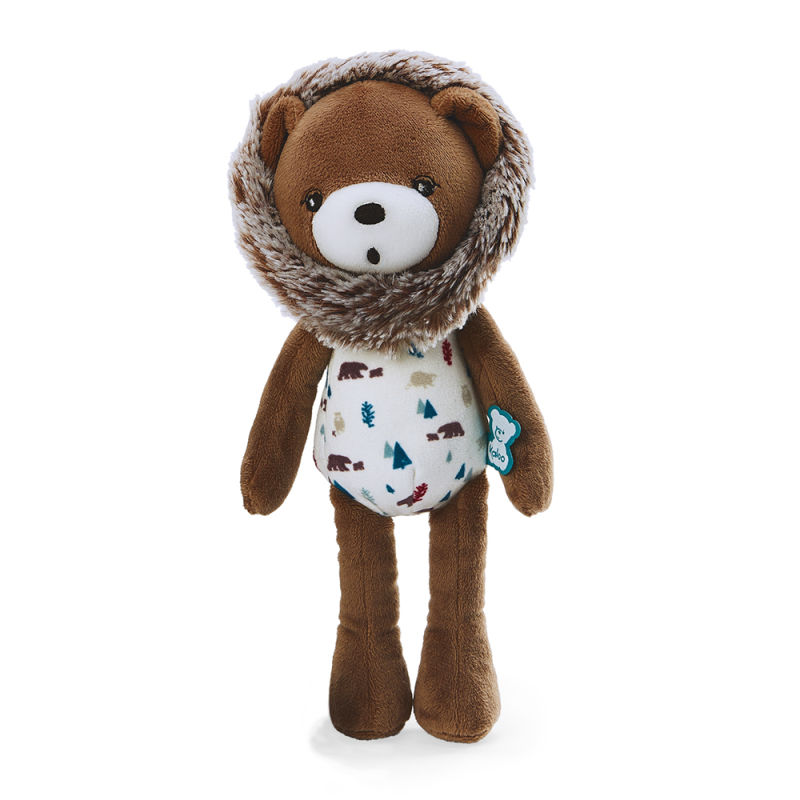filoo gaston lours peluche 25 cm marron blanc