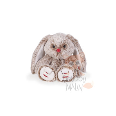 Rouge  peluche lapin sable beige