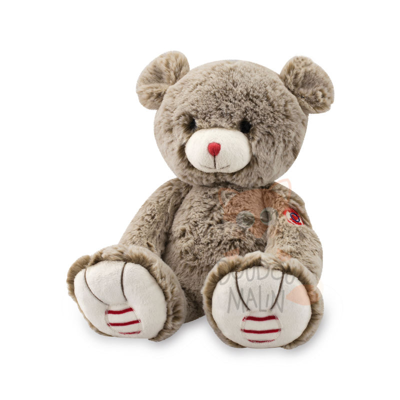 Rouge  peluche ours beige sable 25 cm