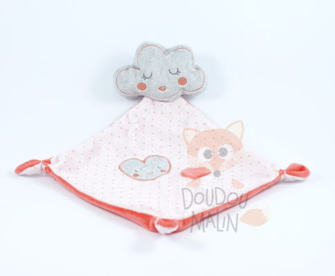 plat nuage coeur rose orange gris