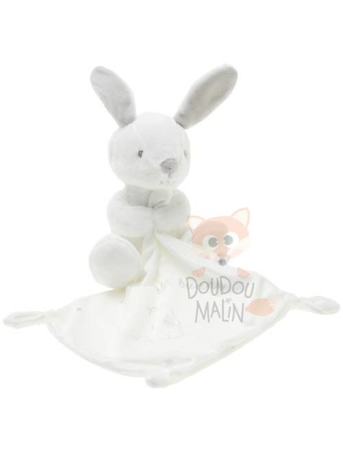 mouchoir lapin blanc gris my little bunny sweet dreams