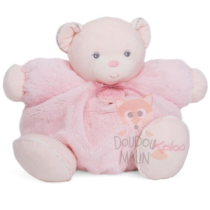 perle peluche ours rose 30 cm
