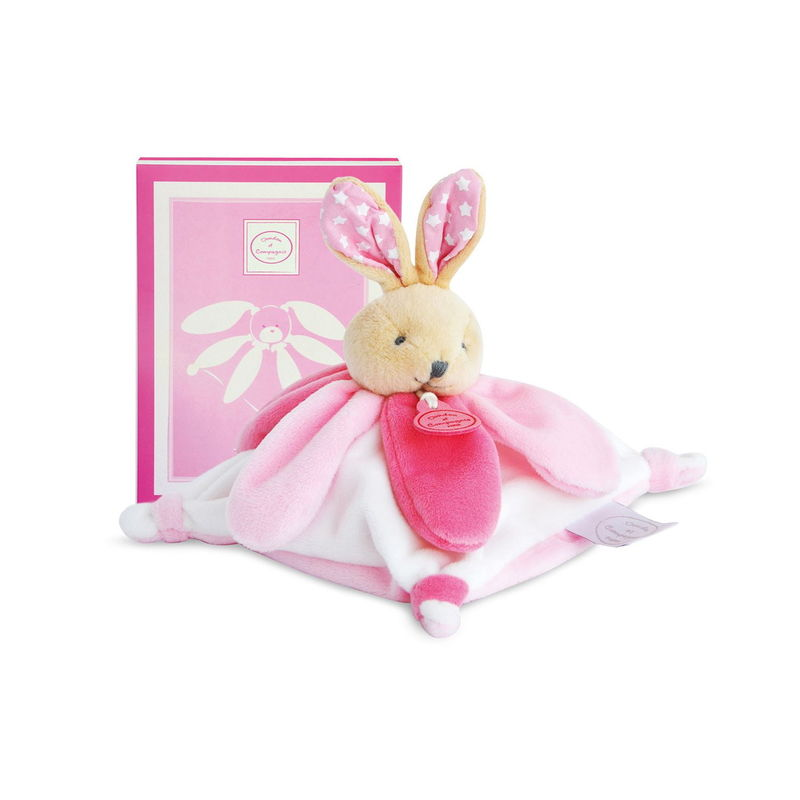 collector lapin plat carré rose blanc étoile