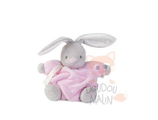 plume peluche lapin rose gris