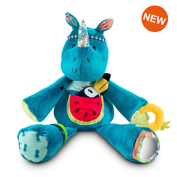 Lilliputiens Autres personnages Activity doll Rhinoceros Blue