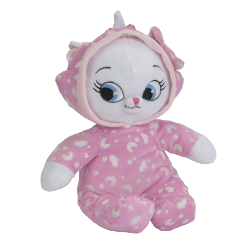 marie chat peluche luminescente rose 30 cm