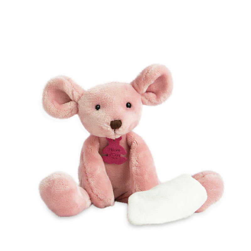 sweety souris rose mouchoir