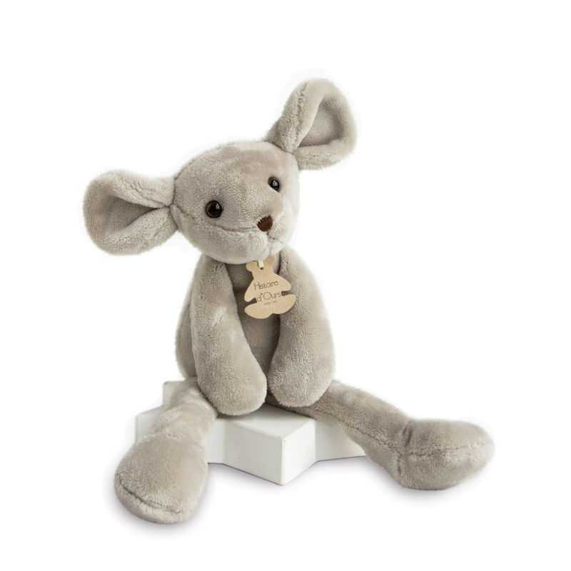 sweety peluche souris gris