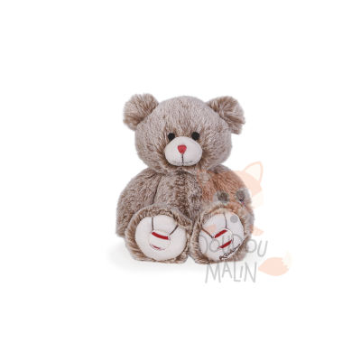 Rouge  peluche ours sable beige