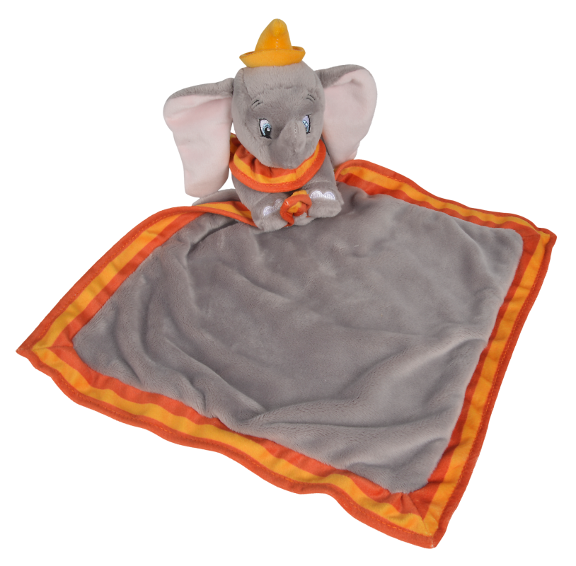 dumbo léléphant grand plat gris orange jaune