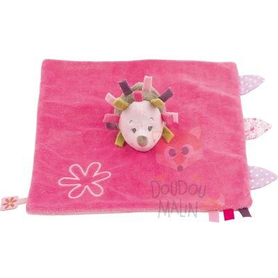 Nattou Manon & Alizée Baby Comforter Hedgehog Pink
