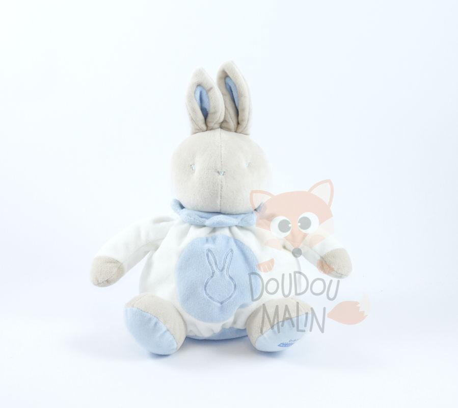 105947a0362 baby comforter rabbit blue white grey