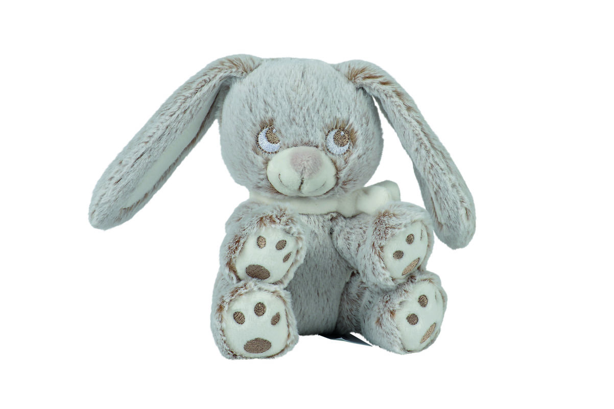 da2593278b7 louis soft toy rabbit grey white scarf 15 cm